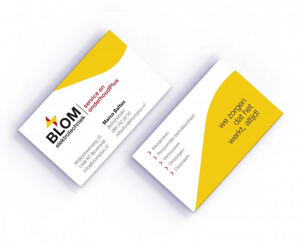 business card Blom elektrotechniek