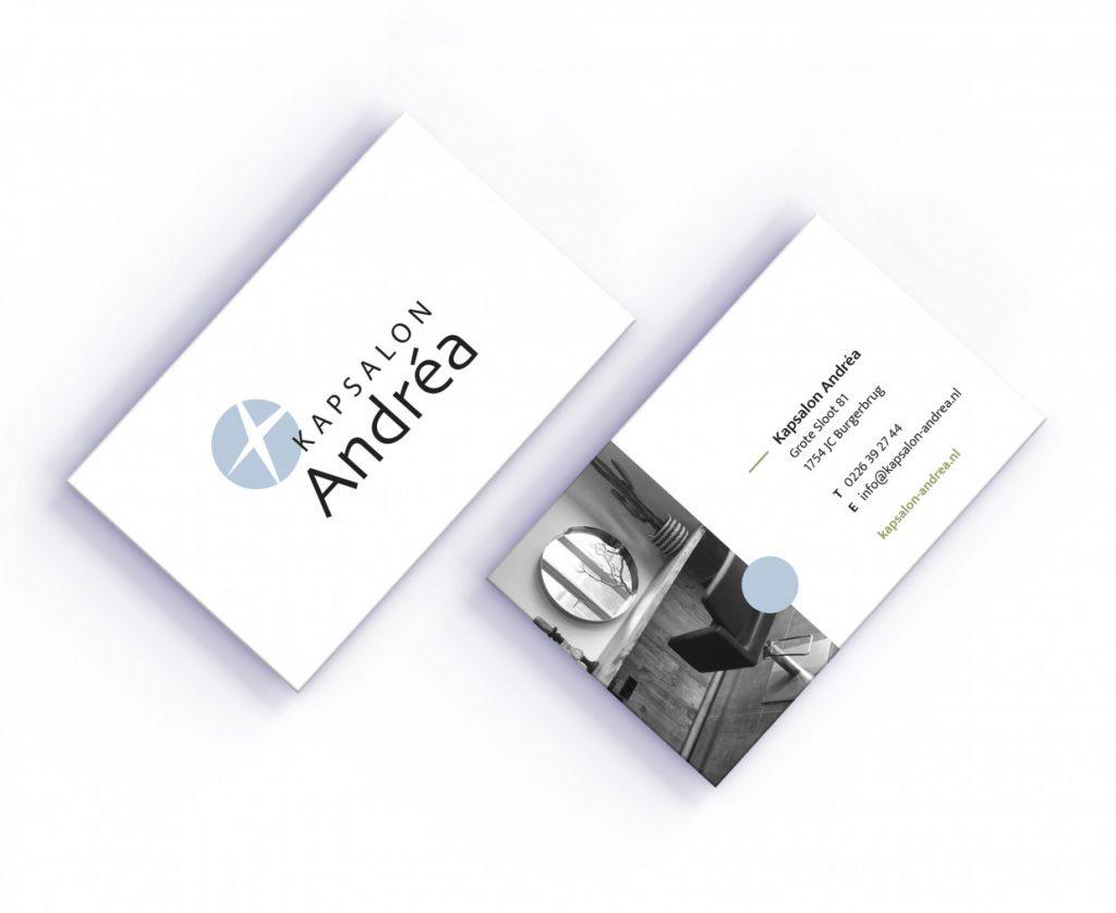 business card Kapsalon Andrea