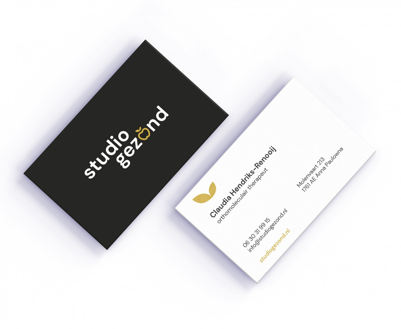business card Studio gezond